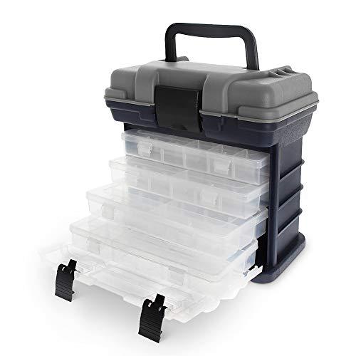 Croch Cassetta Pesca con 4 scatole indipendenti per Accessori da Pesca