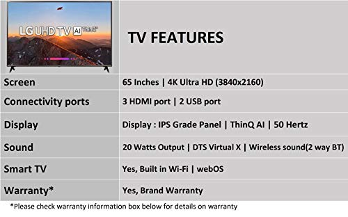 LG 164  cm (65 Inches) 4K UHD LED Smart TV 65UK6360PTE (Black) (2018 model) 5