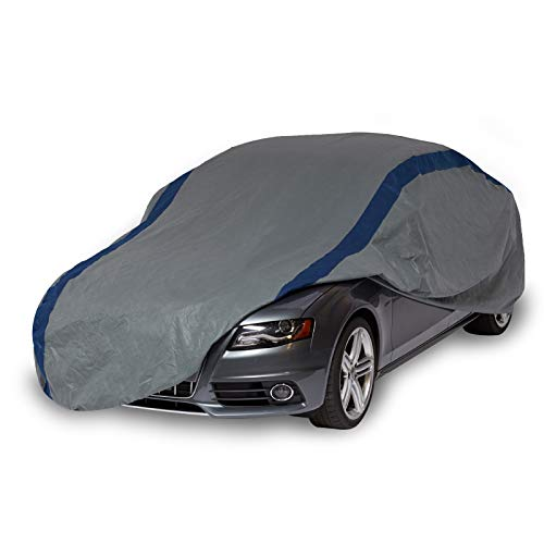 Duck Covers A3C200 Weather Defender Car Cover for Sedans up to 16' 8',Gray/Navy Blue,200 Inch Length x 60 Inch Width x 51 Inch Height