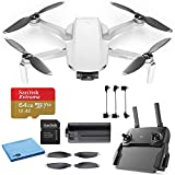 DJI Mavic Mini Starter Bundle - Drone FlyCam Quadcopter UAV with 2.7K Camera 3-Axis Gimbal GPS 30min...