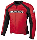 Honda Mens Supersport Textile Street Motorcycle Jacket, Red, X-Large