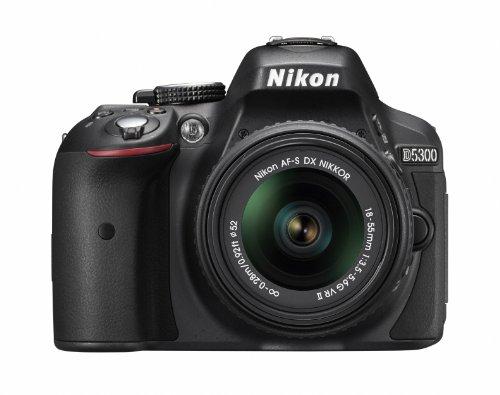 Nikon デジタル一眼レフカメラ D5300 18-55mm VR II レンズキット ブラック 2400万画素 3.2型液晶 D5300LK18-55VR2BK