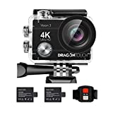 Dragon Touch 4K Action Camera 16MP Vision 3 Underwater Waterproof Camera 170° Wide Angle WiFi...