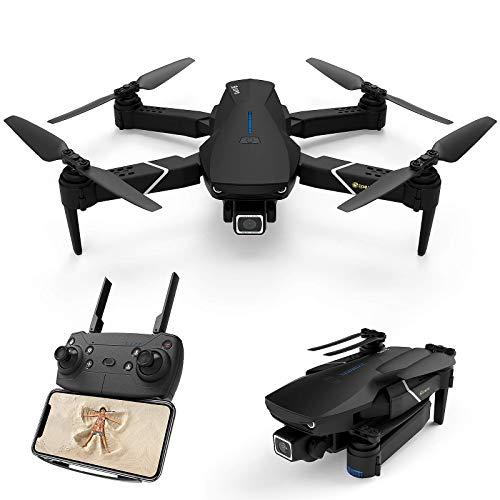 EACHINE E520S - Drone con fotocamera 4 K HD 2.4 G-Wi-Fi, pieghevole, FPV, Quadcopter 1200 mAh, batteria inclusa