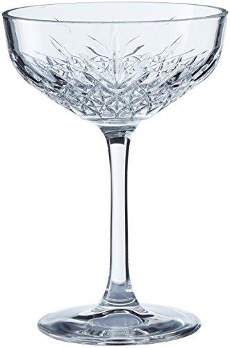 Pasabahce Set 4 Coppe Timeless Champagne 27 Arredo Tavola, 255 milliliters, Vetro, Trasparente