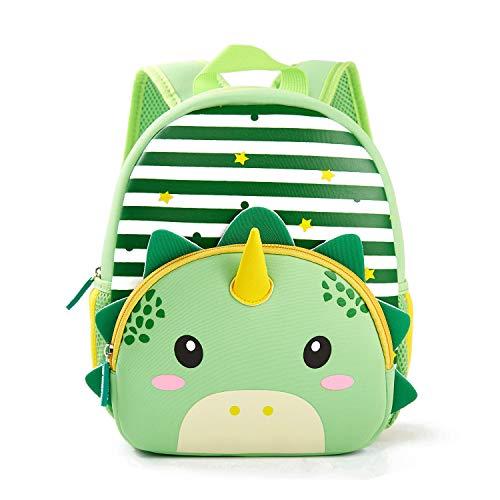 Toddler Backpack, Waterproof Children School Backpack, Neoprene Animal Schoolbag, Lunch Box Carry Bag for Boys Girls, Dinosaur