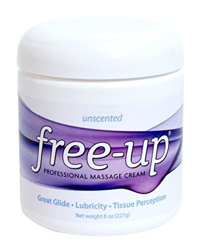 PrePak Products Freeup Unscented Massage Cream Jar, 8 oz - MADE IN USA