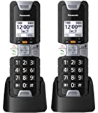 Panasonic KX-TGTA61B DECT 6.0 Additional Digital Cordless Rugged Handset with Link2Cell (2 Pack)