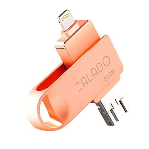 USBメモリ 32GB ZALADO iPhone 32gb フラッシュドライブ メモリ IOS/Android/PC対応 日本語取扱説明書付き(...