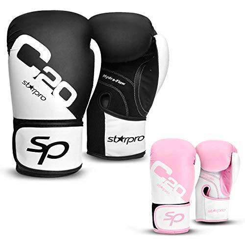 Starpro Guantoni Boxe Training Sparring - Kickboxing Muay Thai Guanti Sacco Boxe Allenamento...