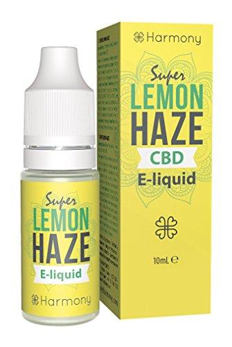 Harmony E-líquido de CBD (más de 99% pureza) - Terpenos de Super Lemon Haze - 30 mg CBD en 10 ml - Sin Nicotina