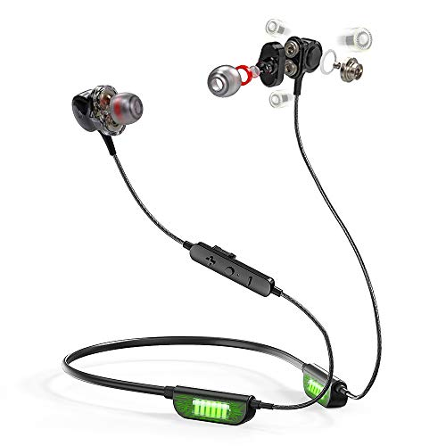 ALOVA i6 Bluetooth Headphones Wireless Triple Drivers Earbuds High-End 6D Sound Effect Waterproof Sport in-Ear Earphones with Mic for Running, Workouts, Excercise, Gym