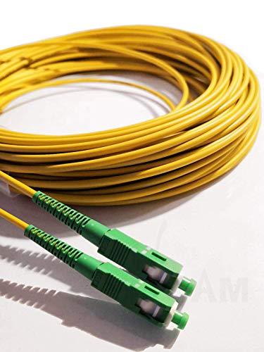 Elfcam Fibra óptica cable SC/APC a SC/APC monomodo simplex