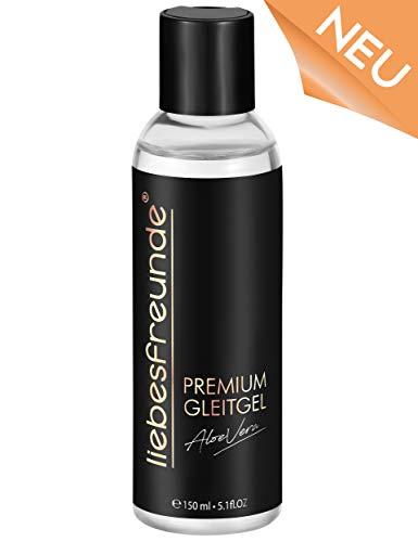 liebesfreunde® Premium Gleitgel wasserbasiert - Gleitmittel mit Aloe Vera, 150 ml