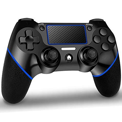 GEEMEE Wireless Controller für P4, Bluetooth Game Controller Gamepad Joypad Touchpanel Spielbrett mit Dual Vibration und Audiofunktionen Joystick
