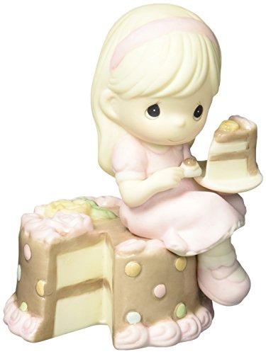 Precious Moments 152000 Have Your Cake & Eat It Too, Bisque Porcelain Figurine