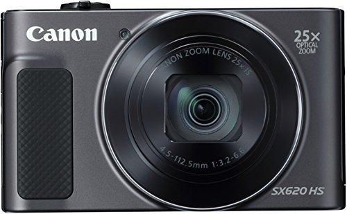 Canon PowerShot SX620 HS - Cámara digital compacta de 20,2 Mp (pantalla de 3', zoom óptico 25x, WiFi, NFC, video Full HD), negro