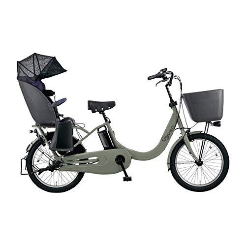 PANASONIC ギュット・クルームR・DX 電動アシスト自転車 (20インチ・内装3段変速) BE-ELRD03-G マットオリーブ