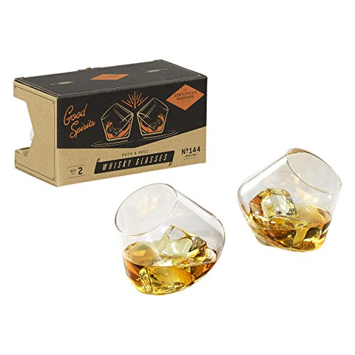 Gentlemen' s Hardware Dondolo Bicchieri da Whisky, Argento, Set di 2