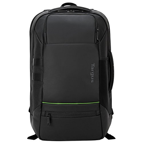Targus Balance EcoSmart Travel and Checkpoint-Friendly Laptop Backpack with Protective Sleeve for 15.6-Inch Laptop and Felted Phone Pocket, Black (TSB921US)