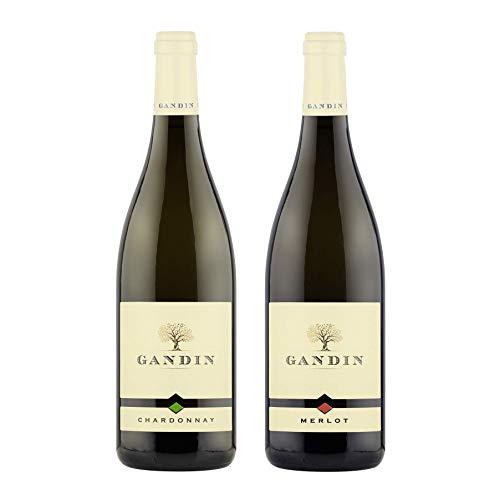 Chardonnay DOC 0,75 L + Merlot DOC 0,75 L | Friuli Isonzo | Gandin Wines | Idea Regalo