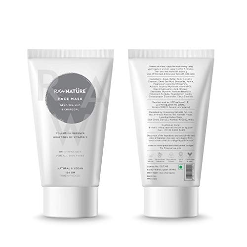 RawNature Deep Pore Cleansing Soft and Smooth Skin Quick Drying Easy Wash Off Natural Face Mask for Men and Women - 125 gm