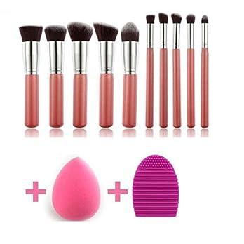 Makeup Brushes Set Eye shadow Makeup Brush Kit with Blender Sponge