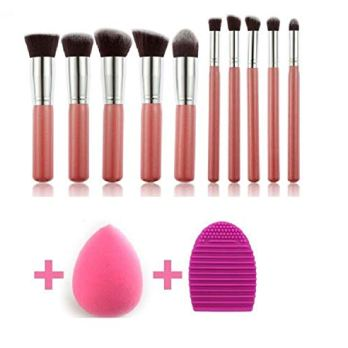 Makeup Brushes Set Eye shadow Makeup Brush Kit with Blender Sponge