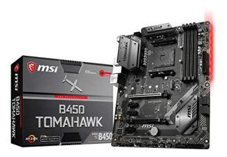 MSI Arsenal Gaming AMD Ryzen 1st and 2nd Gen AM4 M.2 USB 3 DDR4 DVI HDMI Crossfire ATX Motherboard (B450 TOMAHAWK)