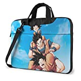 Bolso Bandolera para Laptop, Bolso japonés Anime DBZ Goku Family Fan Art, Funda para computadora para MacBook Chromebook