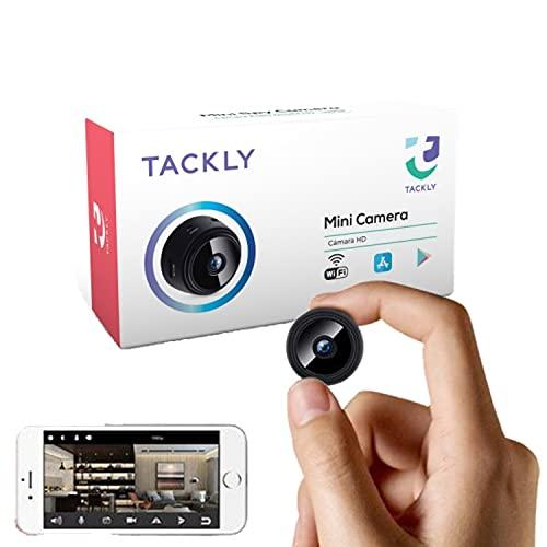 TACKLY Micro Telecamera spia nascosta wifi professionale - Spy cam sorveglianza interno - videocamera con sensore di movimento e visione notturna