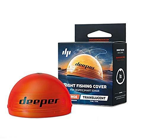 Deeper Night Cover Rilevatore Fishfinder, Progettata per la Pesca Notturna Unisex-Adulto, Arancione, M