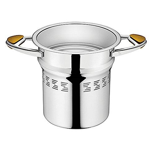 Zepter Masterpiece CookArt - Pentola per spaghetti  20 cm, per cottura a vapore, senza acqua, adatta al forno, lavabile in lavastoviglie