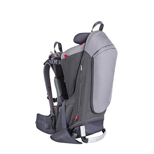 phil&teds Escape Child Carrier Frame Backpack, Height-Adjustable Body-Tech Harness, Includes: Hood, Daypack, Change Mat, 30L Storage