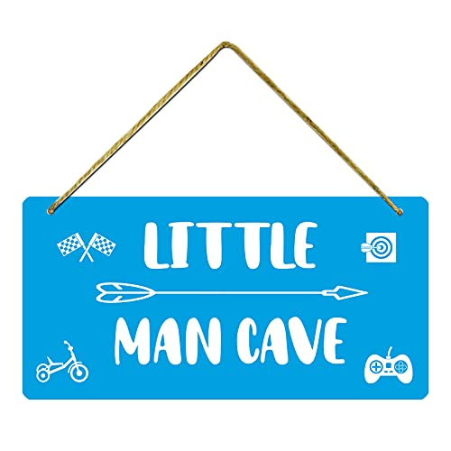 Little Man Cave – 12 x 6 inches Boys Bedroom Decor, Wall...