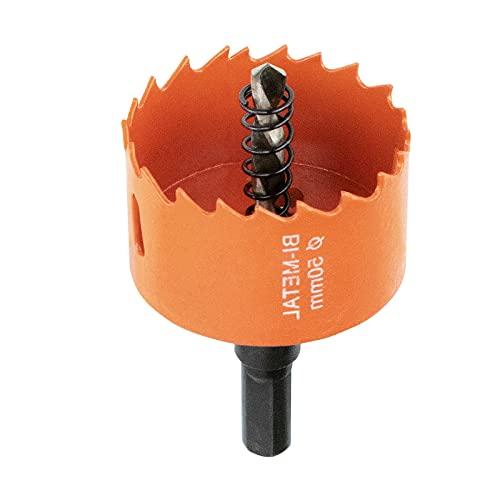 Meccion Sierras De Corona Perforadoras M42 Bi-Metal Adecuado Para Taladros Eléctricos Y Taladros De Banco, Ideal Para Metal Suave, Aluminio, Madera, Pvc, Mdf Y Plástico (50Mm)