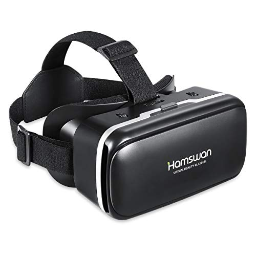 VR-Headset, 3D VR Brille,Virtual Reality Headset mit 90-100° Weitwinkel, kompatibel mit 4,7-6,0 Zoll iPhone & Android