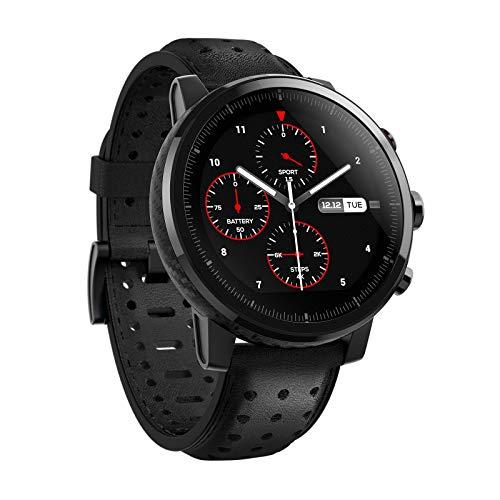 Xiaomi Unisex-Erwachsene Eu/D Version Mi Amazfit Stratos 2S Smartwatch schwarz One Size, Einheitsgröße