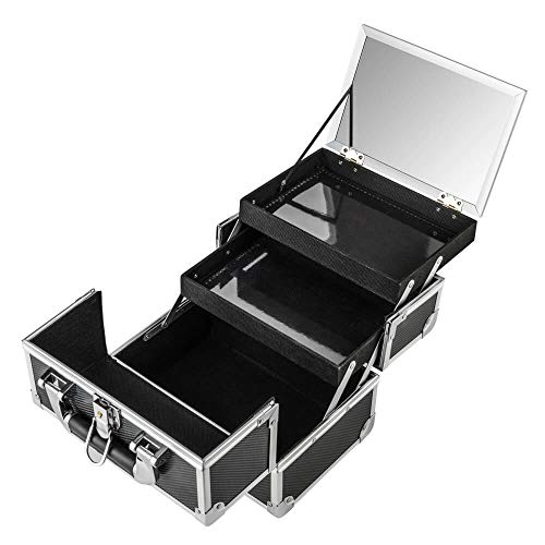 AMASAVA Beauty Case da Viaggio,Custodia per trucco portatile,valigia Trucco, Caso Cosmetici, 24 x 17...