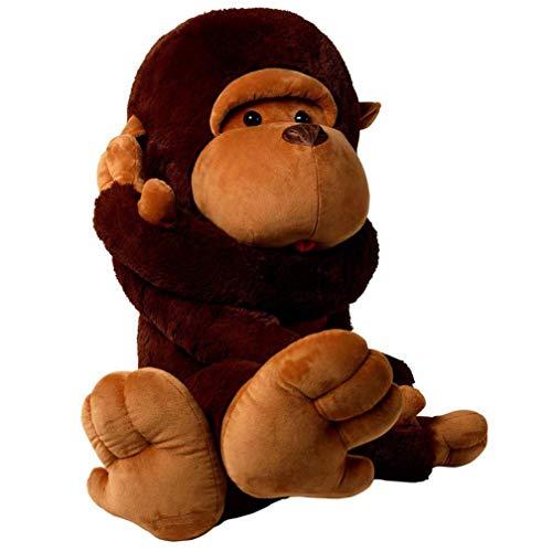 YunNasi Scimmia di Peluche Gigante Morbido Peluche Scimmietta,Regalo per Compleanno Bambini Ragazza e Natale, XXL 110cm
