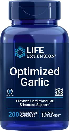 Life Extension, Optimized Garlic ( Optimierter Knoblauch ), 200 vegane Kapseln, sojafrei, glutenfrei