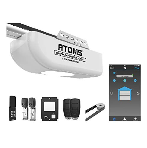 Atoms ATR-1622BKW by Skylink 1/2HPF Garage Door Opener with Alexa. Extremely Quiet DC Motor, Belt Drive and WiFi Compatible