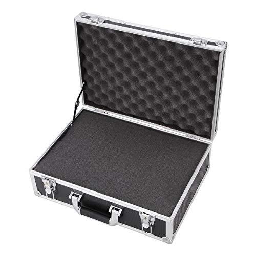 Aluminium Hartschalenkoffer Werkzeugkoffer Werkzeugkoffer Aufbewahrungsbox Koffer Silber
