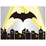 Allenjoy 8x6ft Superhero Cityscape Backdrop Night Buildings Great as Super Hero Bat City Photo Booth Background boy 1st First Birthday Party and Event Banner Decorations Baby Shower Studio Props