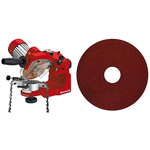 Einhell Affûteuse de chaîne de tronçonneuse électrique GC-CS 235 E (235 W, Epaisseur de la meule 3,2 mm, Dispositif de serrage) & Meule abrasive de rechange 3,2 mm