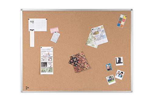 BoardsPlus - Bacheca In Sughero, 120 x 90 cm, Con Cornice Sottile In Alluminio Anodizzato, Lavagna...