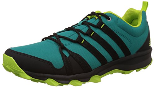 Adidas Men's Trail Rocker Green and Black Trail Running Shoes - 7 UK