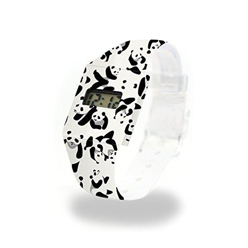 PANDA - Pappwatch - Paperlike Watch - Digitale Armbanduhr im trendigen Design - aus absolut reissfestem und wasserabweisenden Tyvek® - Made in Germany, absolut reißfest und wasserabweisend