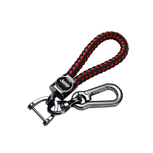 for jeep keychain fit jeep keyring Suitable for Genuine Leather Car Logo Keychain Suit for Jeep Key Chain Keyring Family Present for Man and Woman Elegant,Durable