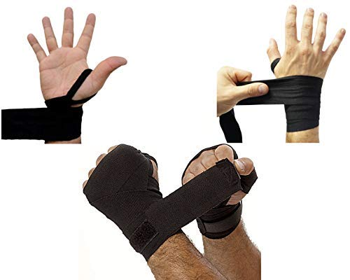 UNYBUY Hand Wraps for Boxing Punching (108-inch, 9 feet, Black)